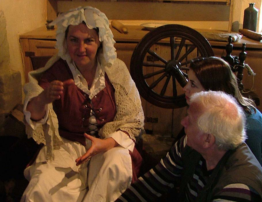 Rosie telling stories at Burns Cottage